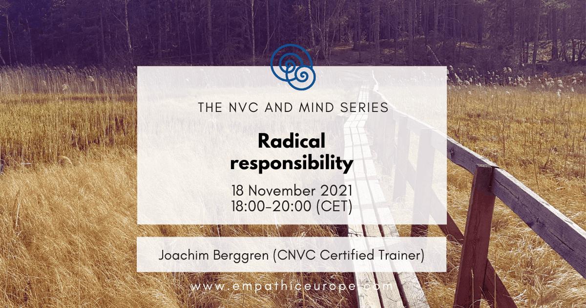 Radical Responsibility Empathic Way Europe Joachim Berggren